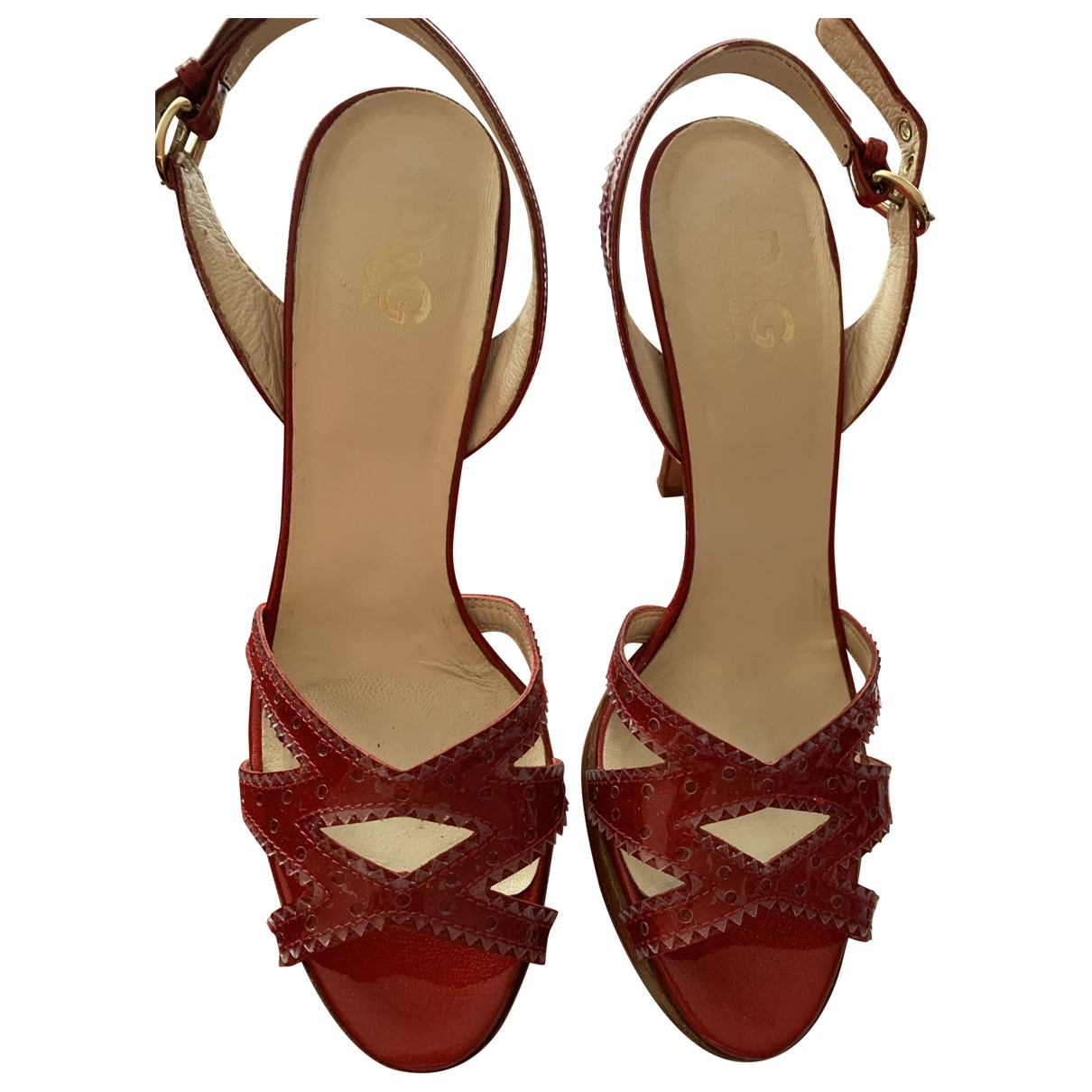 D&g \N Red Leather Heels for Women 40 EU