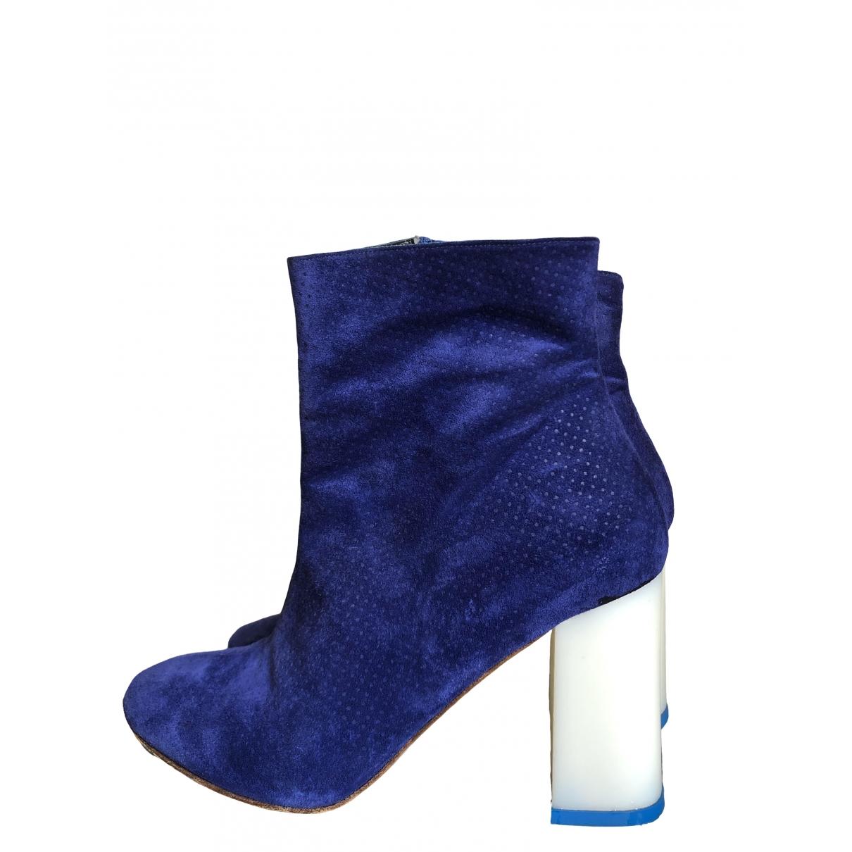 Amelie Pichard - Boots   pour femme en suede - bleu