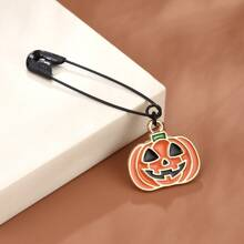 Men Halloween Pumpkin Design Brooch