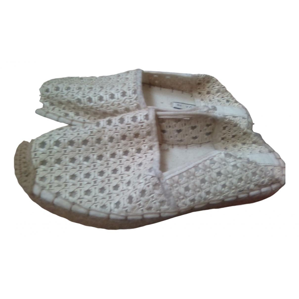 Zara \N Sandalen in  Beige Leinen