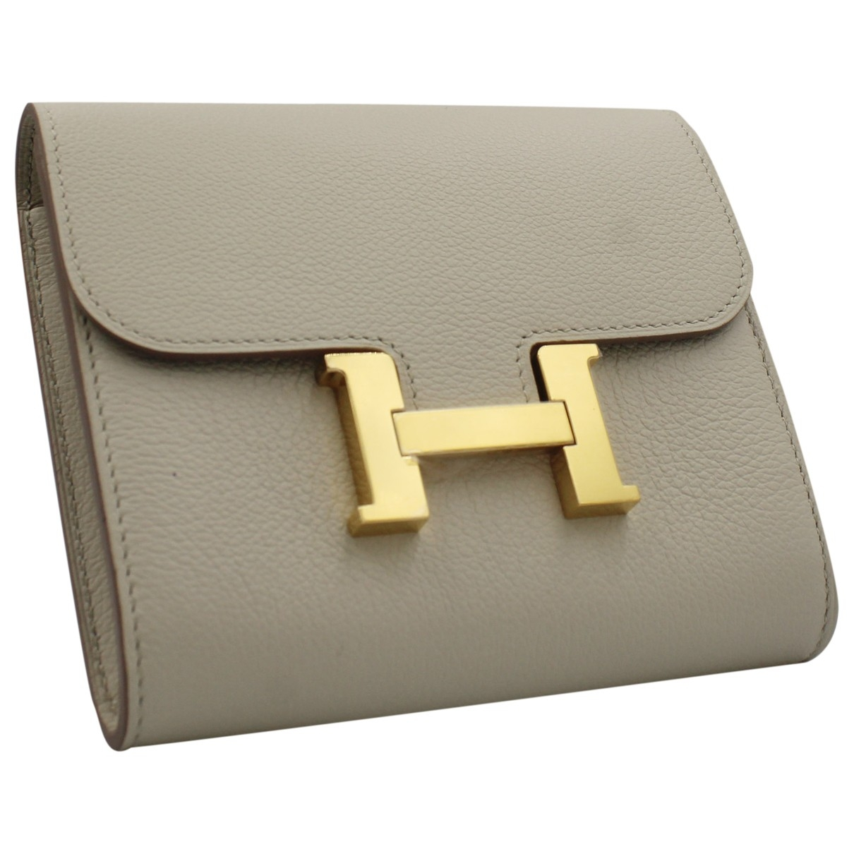 Hermès Constance Ecru Leather wallet for Women \N