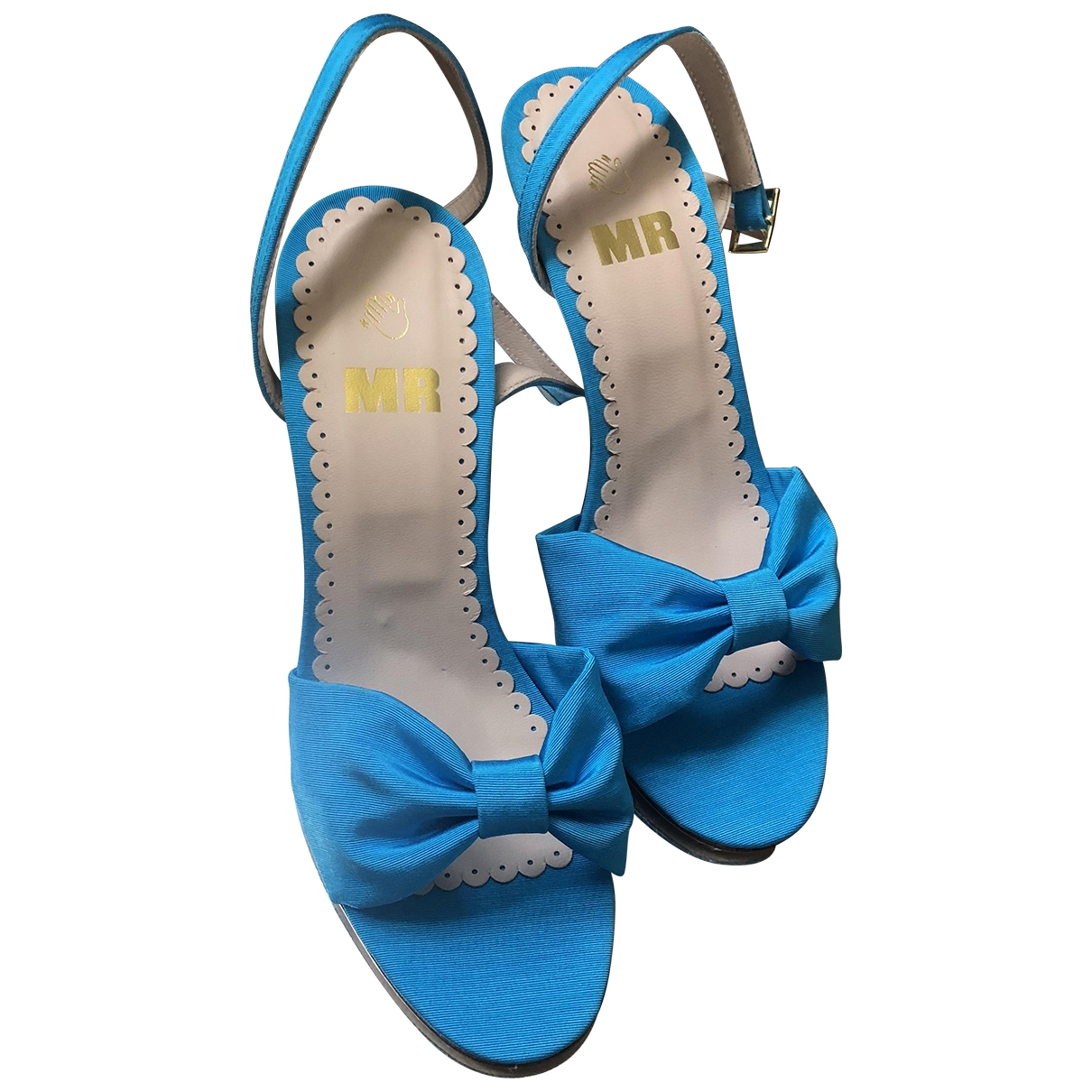 Mr By Man Repeller \N Turquoise Cloth Sandals for Women 38 EU