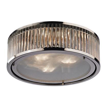 46103/3 Linden Collection 3 Light flush mount in Polished