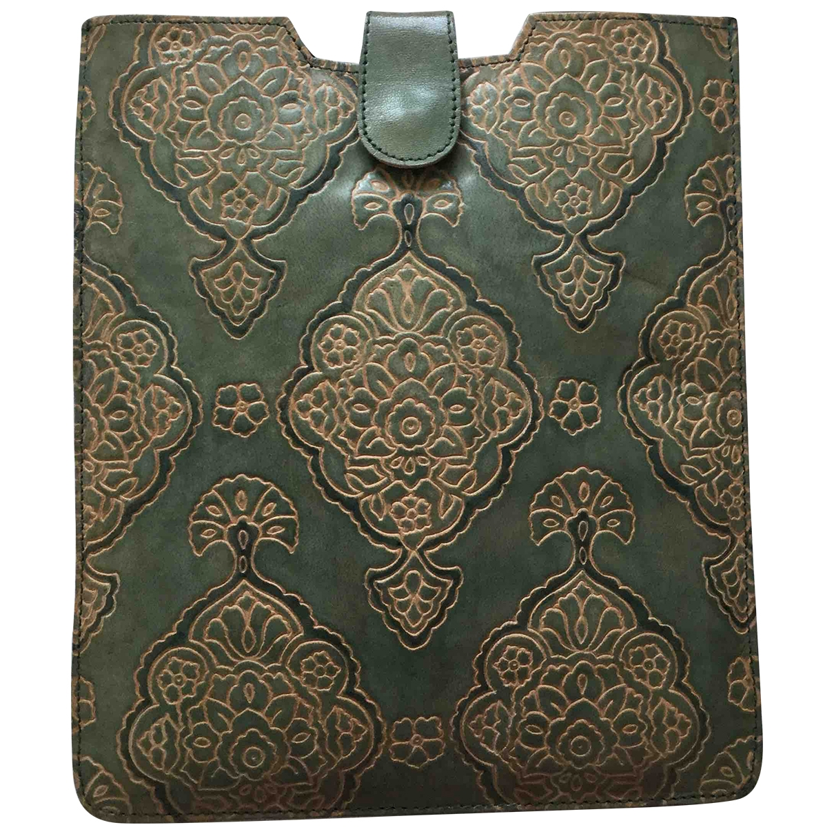 Non Signé / Unsigned \N Green Leather Accessories for Life & Living \N