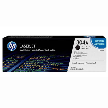 HP 304A CC530AD cartouche de toner originale noire - 2/paquet
