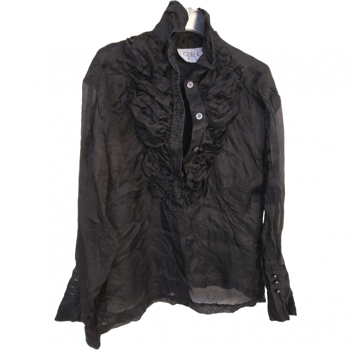 Non Signé / Unsigned \N Black Silk  top for Women 40 IT