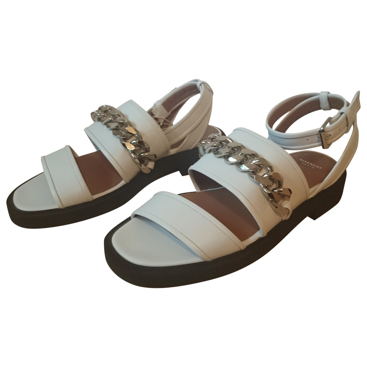 Givenchy - Sandales   pour femme en cuir - blanc