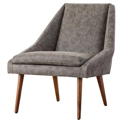 Enzo Collection 1900102-266 PU Accent Chair with Fabric Upholstery in Kalahari