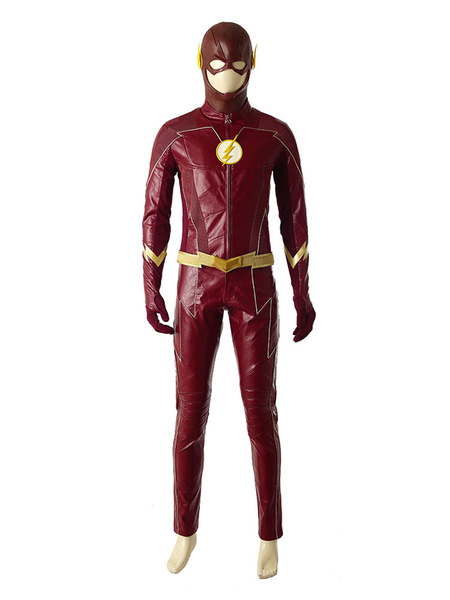 Milanoo The Flash Season 2 Barry Allen Halloween Cosplay Costume