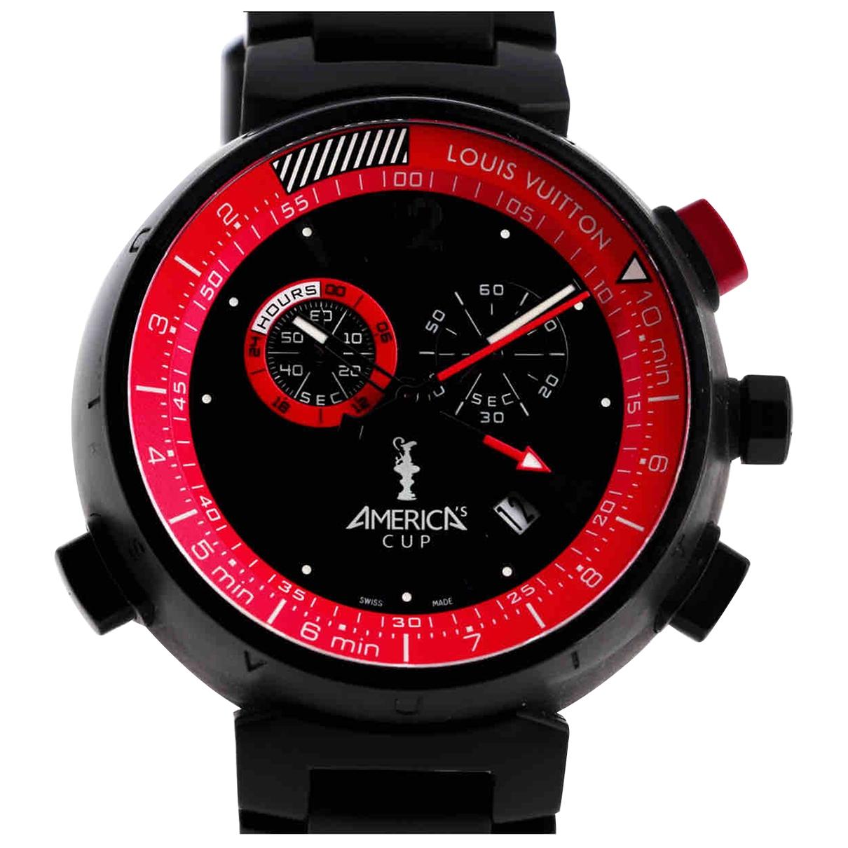 Louis Vuitton \N Uhr in  Schwarz Stahl