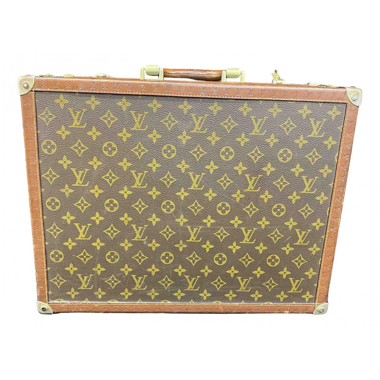 Louis Vuitton \N Brown Cloth bag for Men \N
