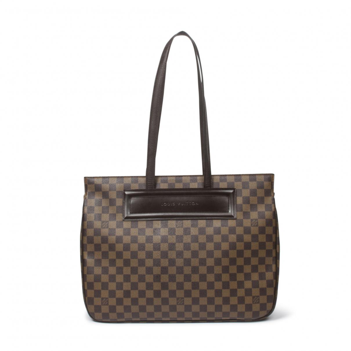 Louis Vuitton Parioli Handtasche in  Braun Leder