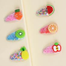6pcs Toddler Girls Fruit Decor Hair Clip