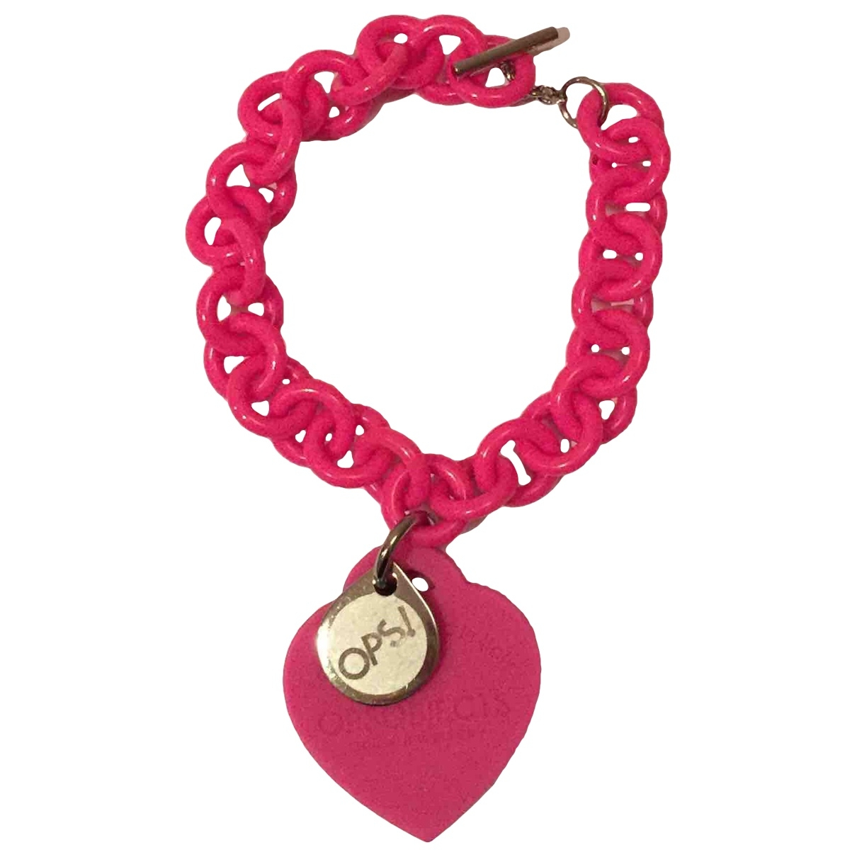 Non Signé / Unsigned \N Pink bracelet for Women \N