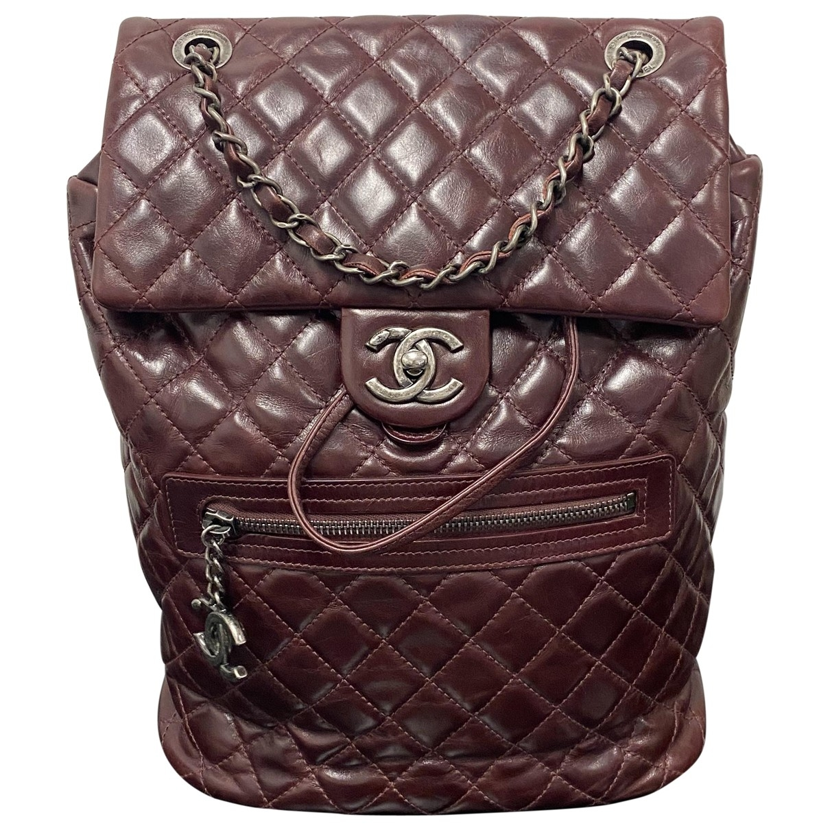 Chanel Timeless/Classique Burgundy Leather backpack for Women \N