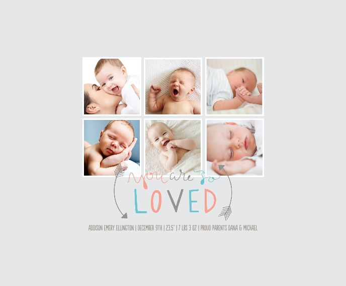 Baby + Kids Framed Canvas Print, Oak, 11x14, Home Décor -So Loved