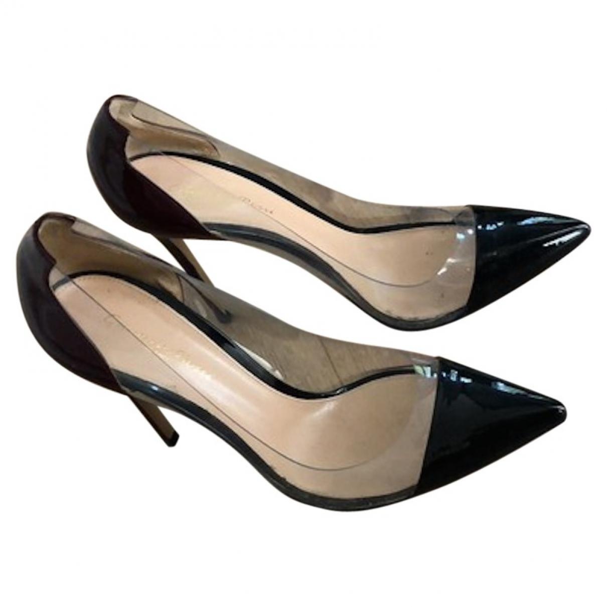 Gianvito Rossi - Escarpins Plexi pour femme en cuir verni - noir
