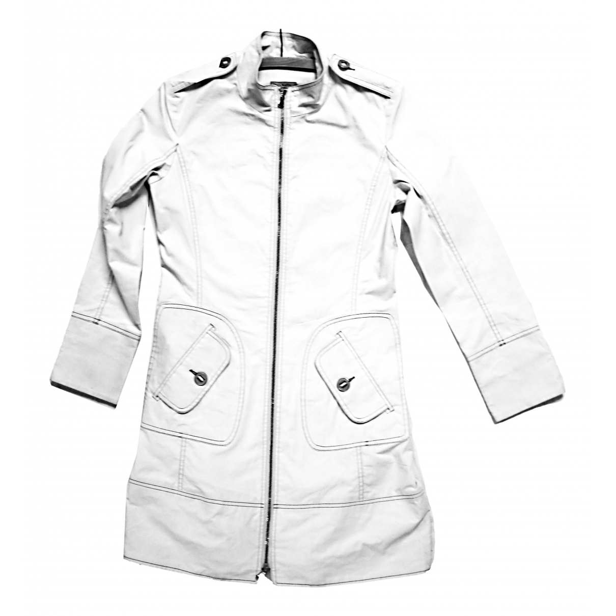 Max & Co - Manteau   pour femme en coton - blanc