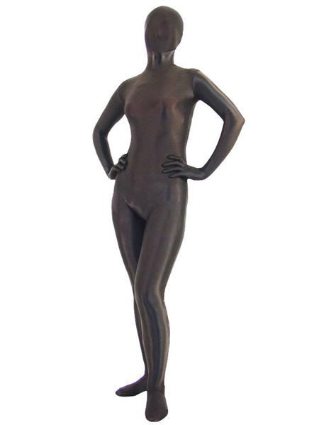 Milanoo Halloween Unisex Brown Lycra Spandex Zentai Suit