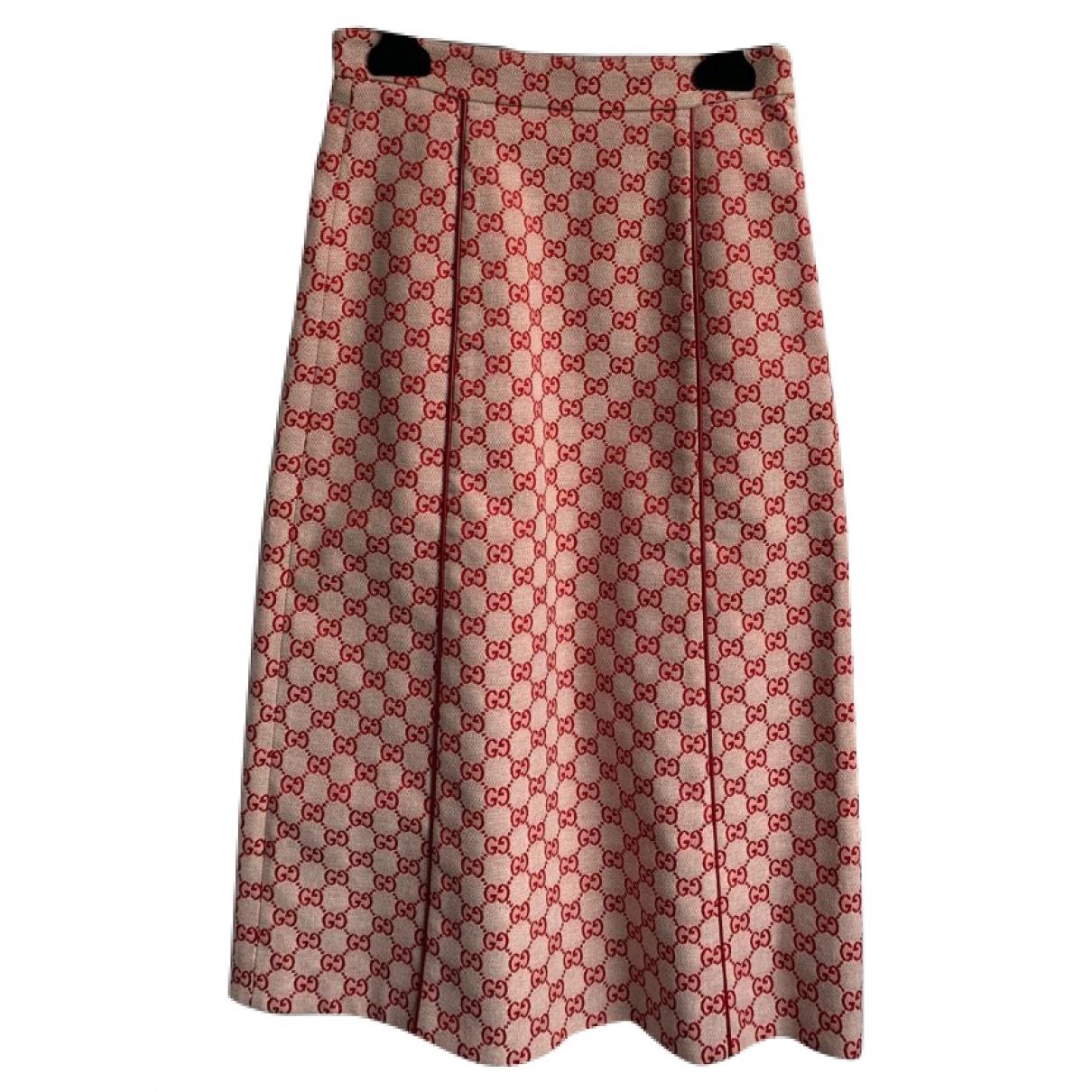 Gucci \N Rocke in  Rot Baumwolle
