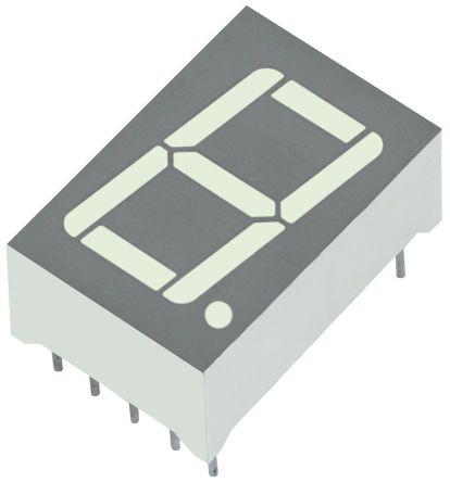 Kingbright SC56-11SYKWA  7-Segment LED Display, CC Yellow 160 mcd RH DP 14.2mm (4)