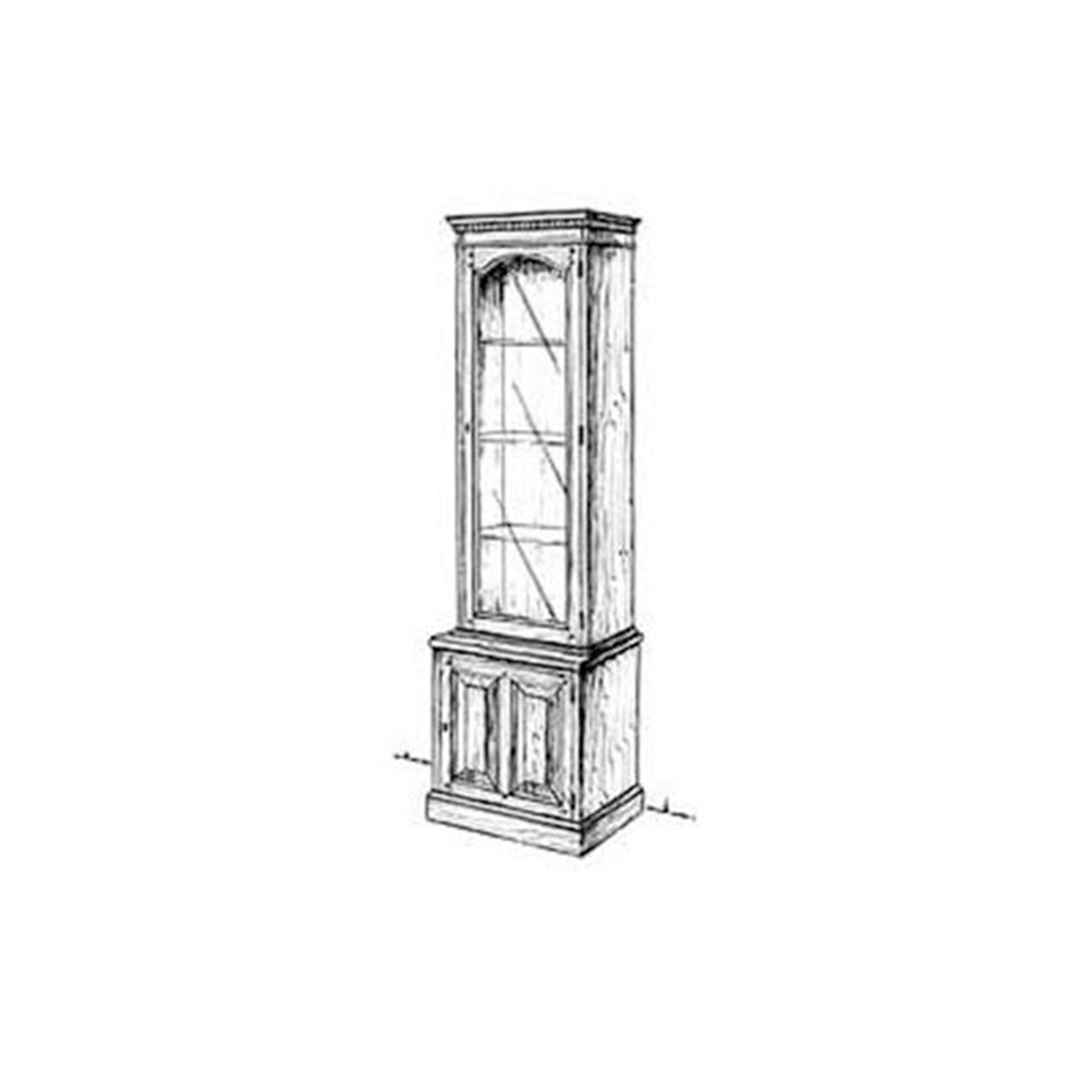 Woodworking Project Paper Plan to Build Slim Curio Cabinet