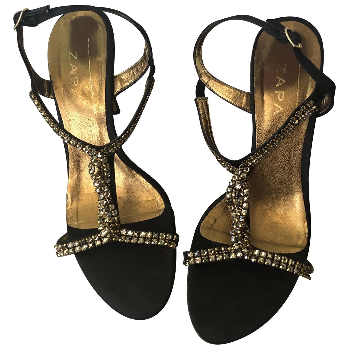 Zapa - Sandales   pour femme en toile - noir