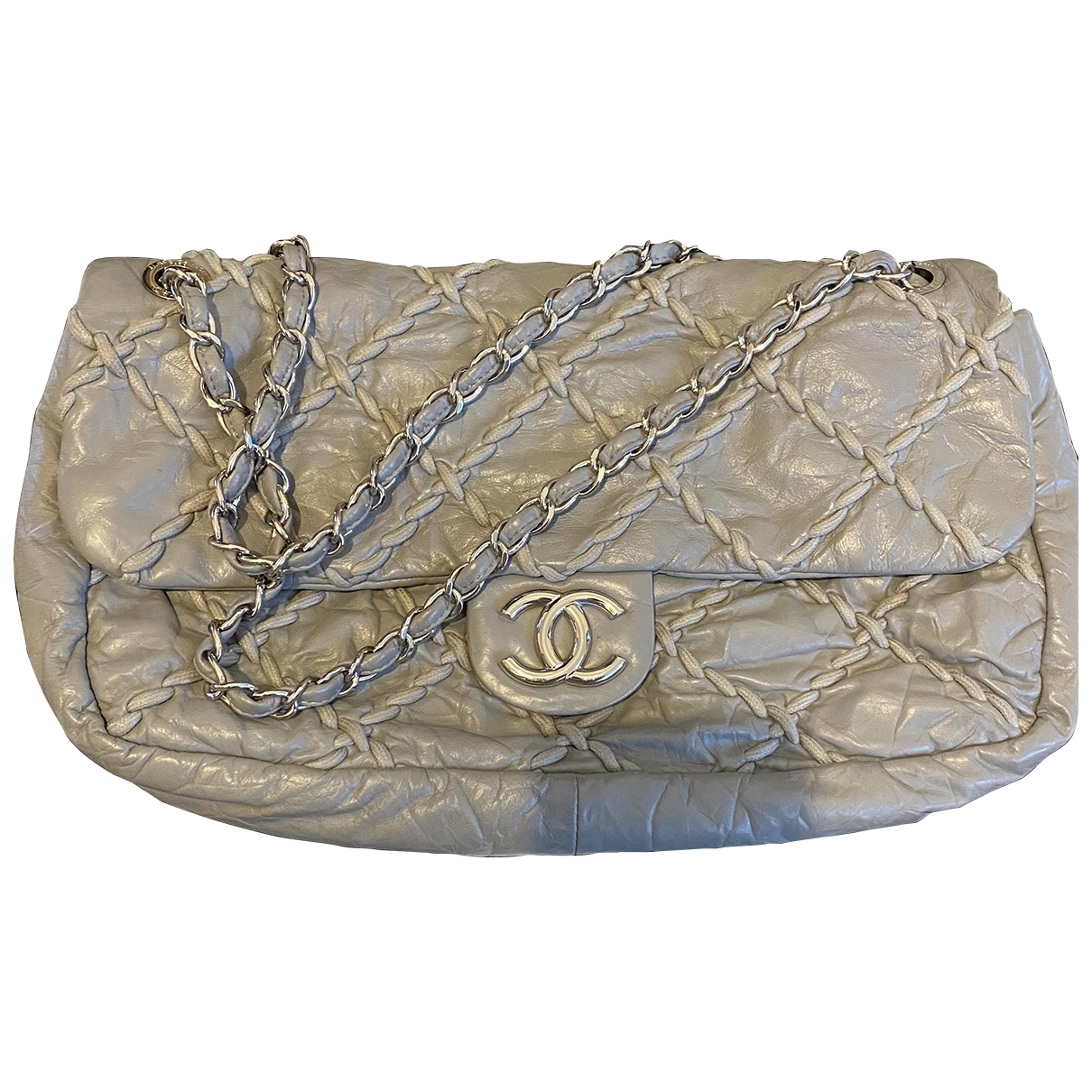 Chanel Timeless/Classique Grey Leather handbag for Women \N