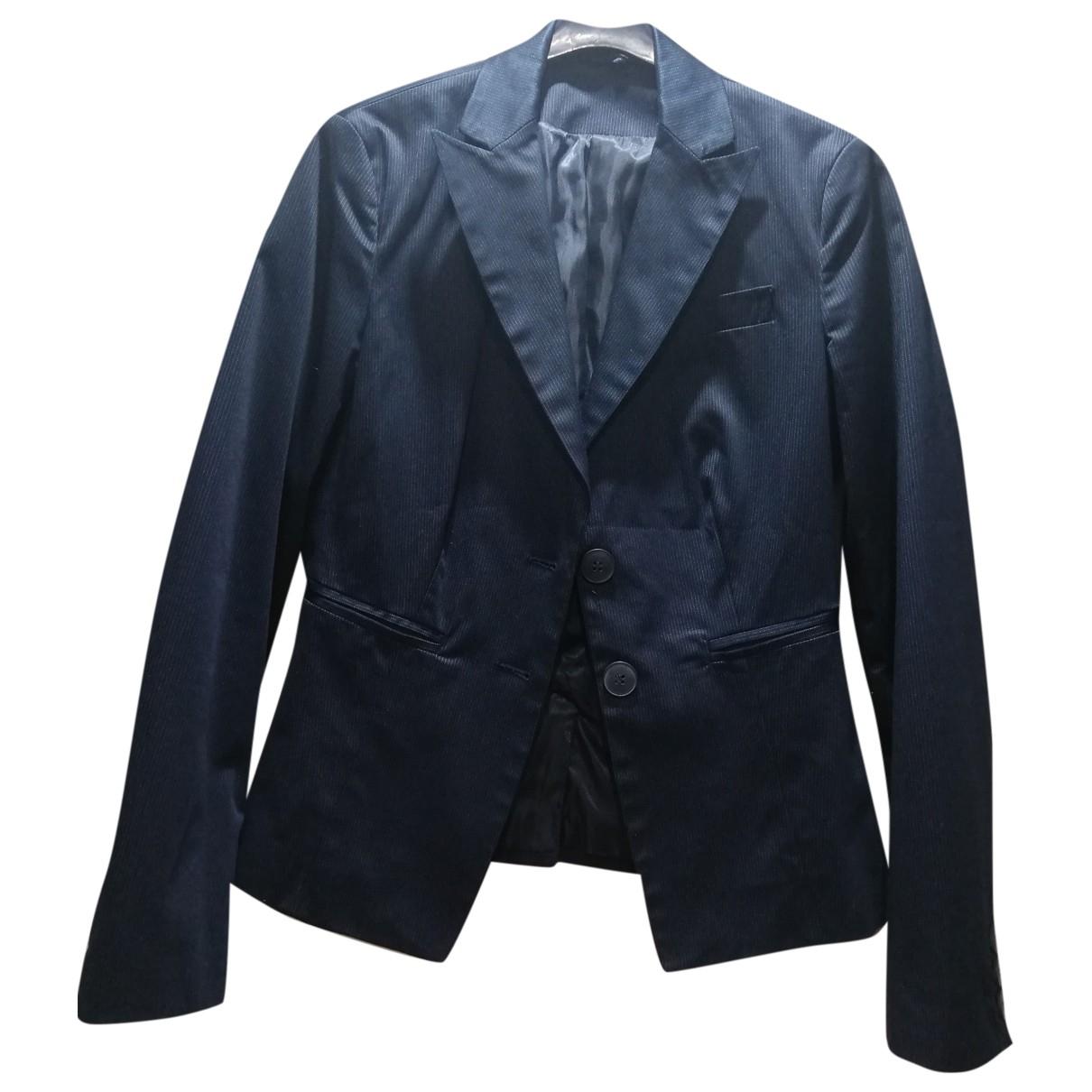 Benetton - Veste   pour femme en coton - bleu