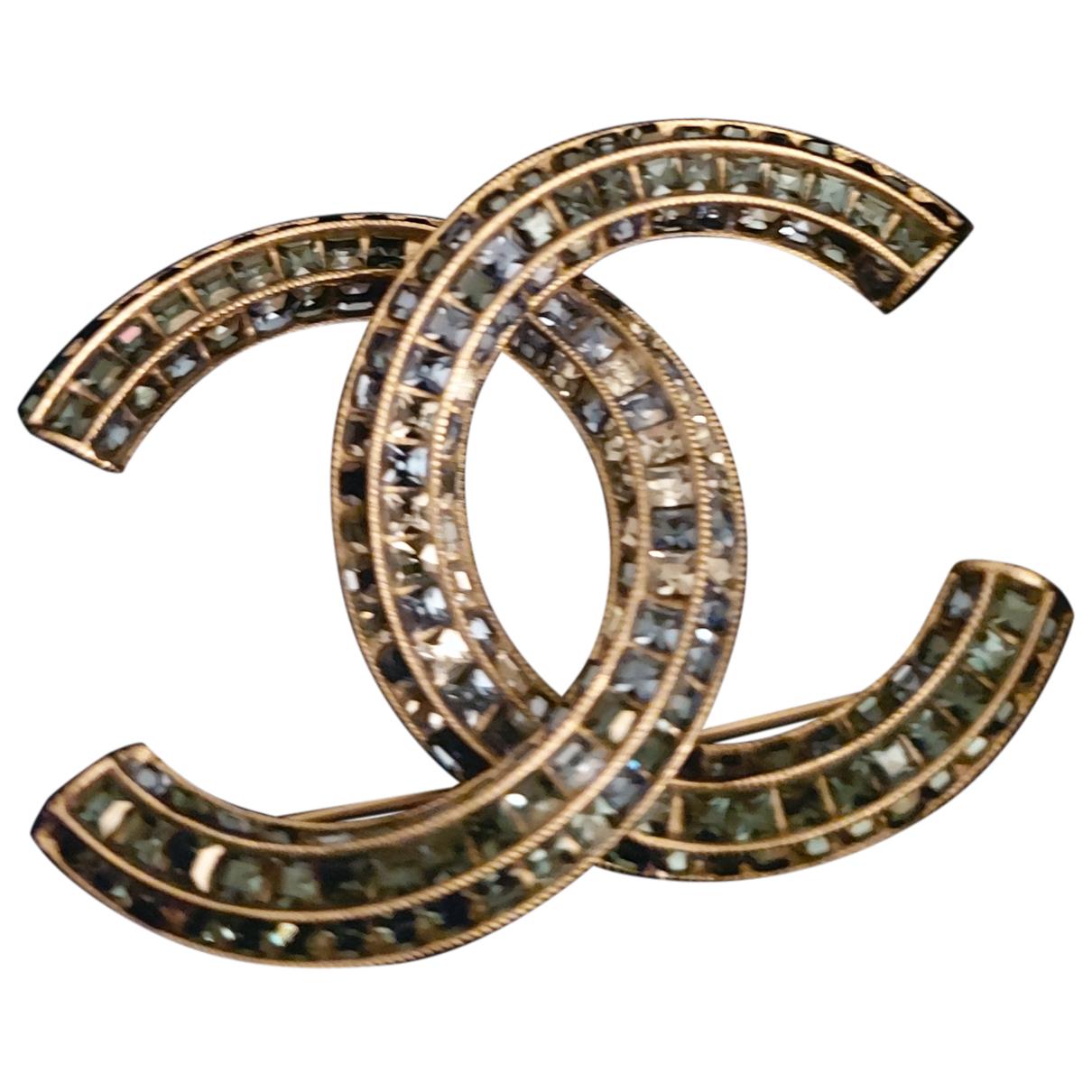 Broche CC en Metal Azul Chanel