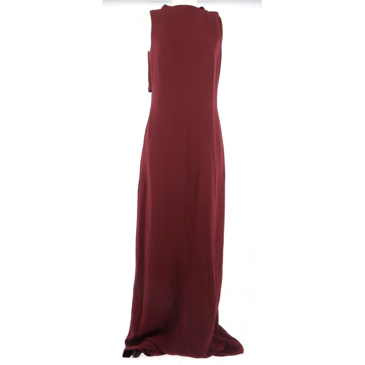 Bcbg Max Azria \N Kleid in  Bordeauxrot Seide