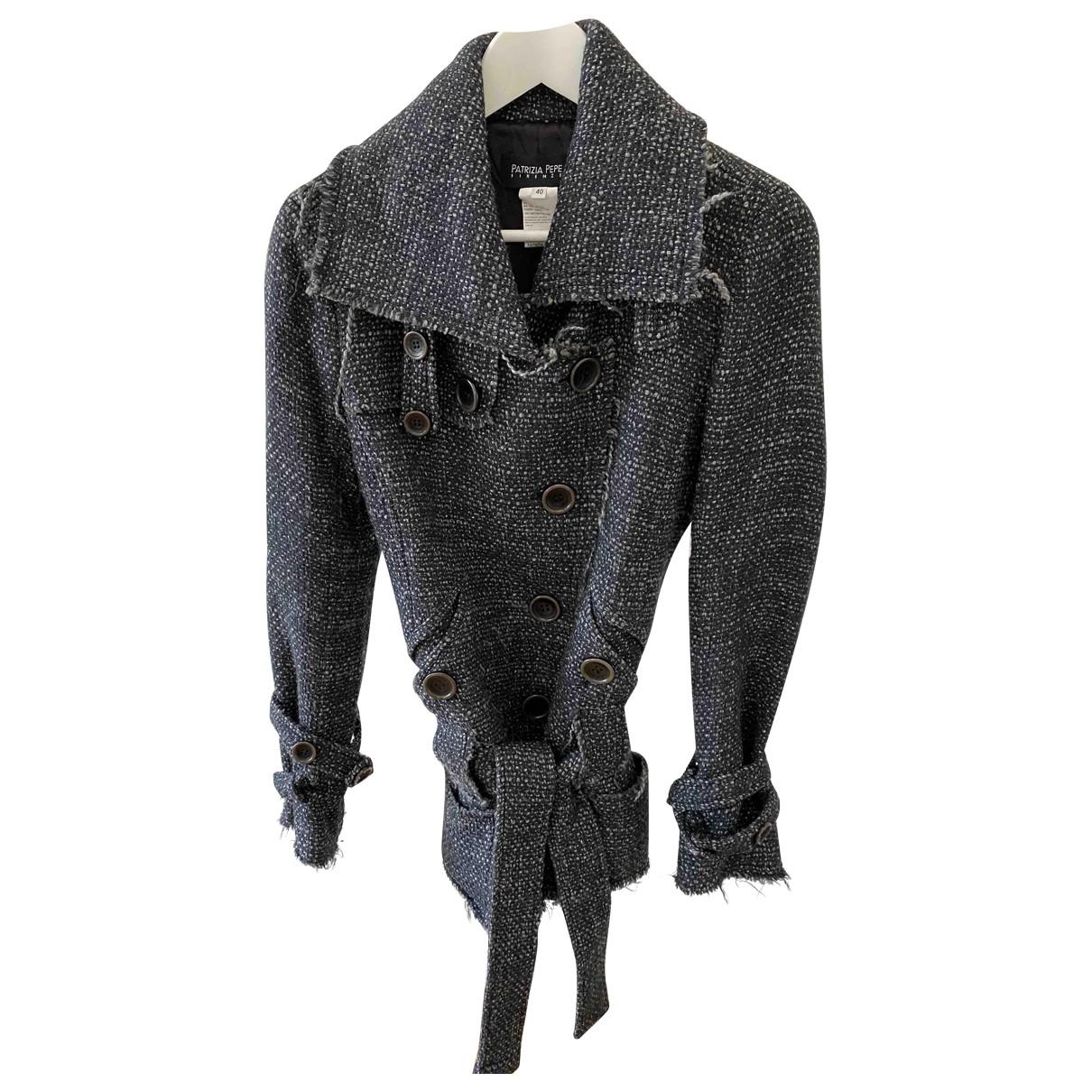 Patrizia Pepe - Veste   pour femme en laine - bleu