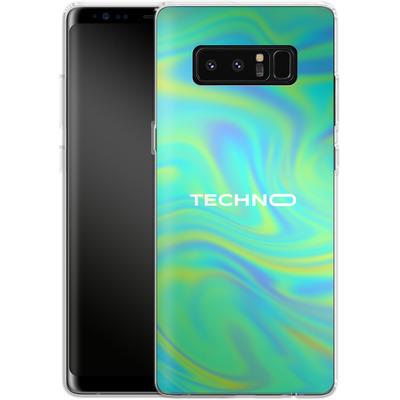 Samsung Galaxy Note 8 Silikon Handyhuelle - PSYCHEDELIC GREEN von Berlin Techno Collective
