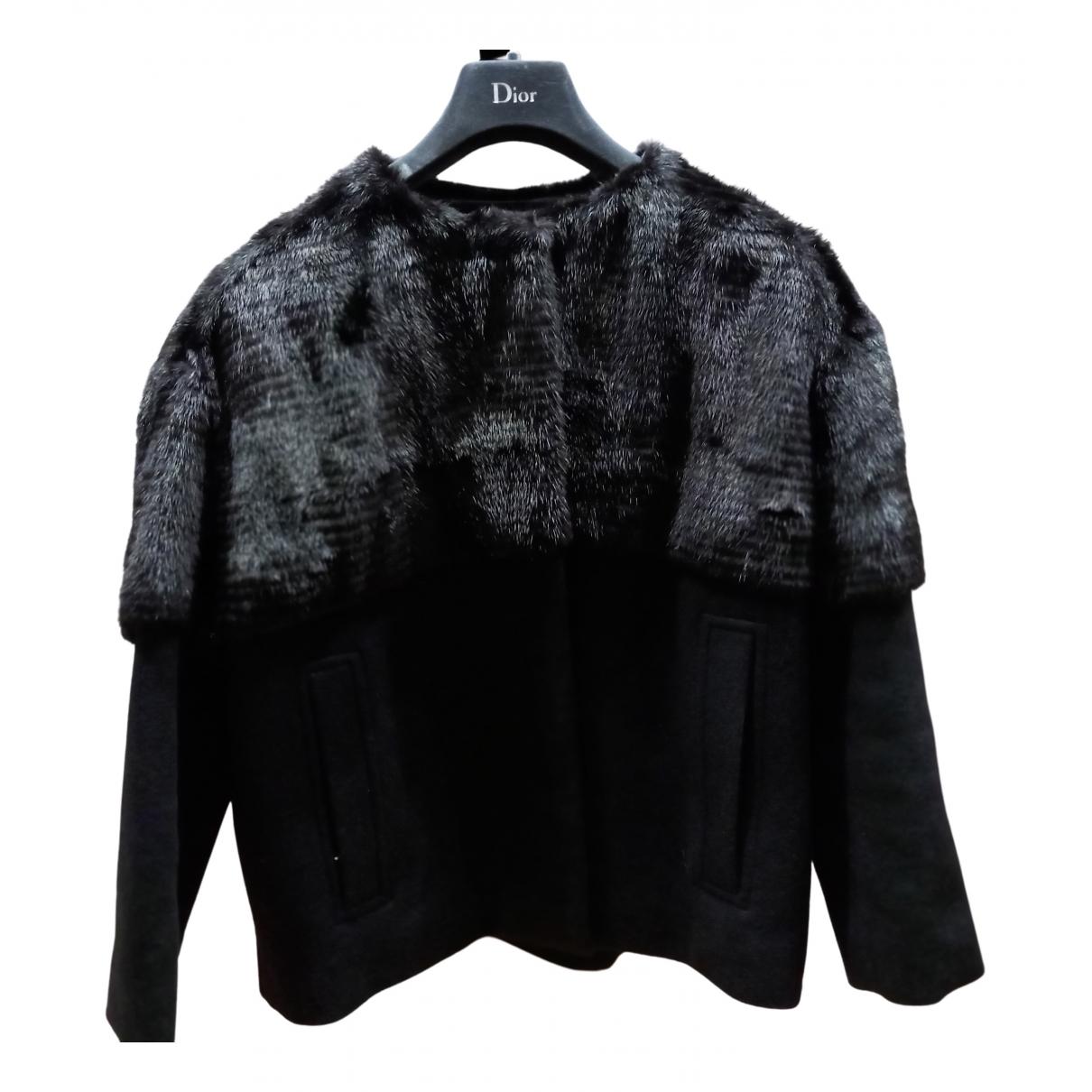 Dior N Black Mink jacket for Women 42 FR