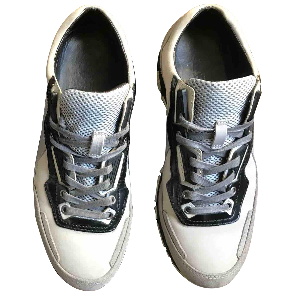 Lanvin \N Beige Leather Trainers for Men 7 UK