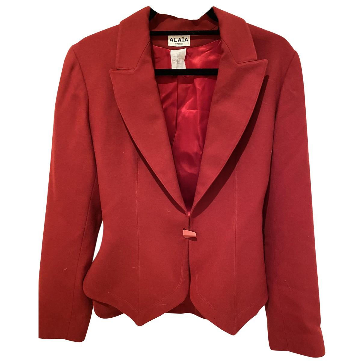 Alaia - Veste   pour femme en laine - rouge