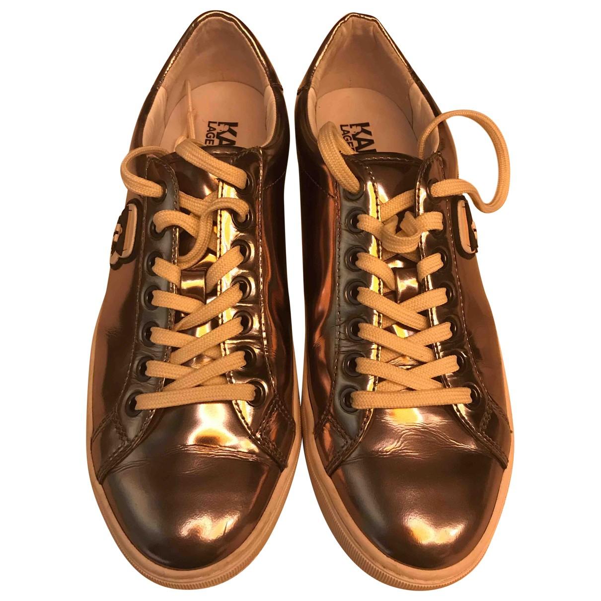 Karl Lagerfeld \N Sneakers in  Metallic Leder