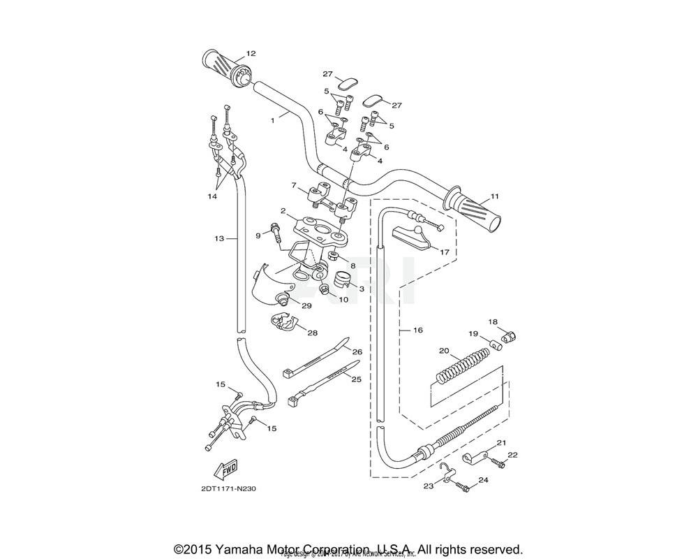 Yamaha OEM 2DT-F6240-00-00 GRIP ASSY