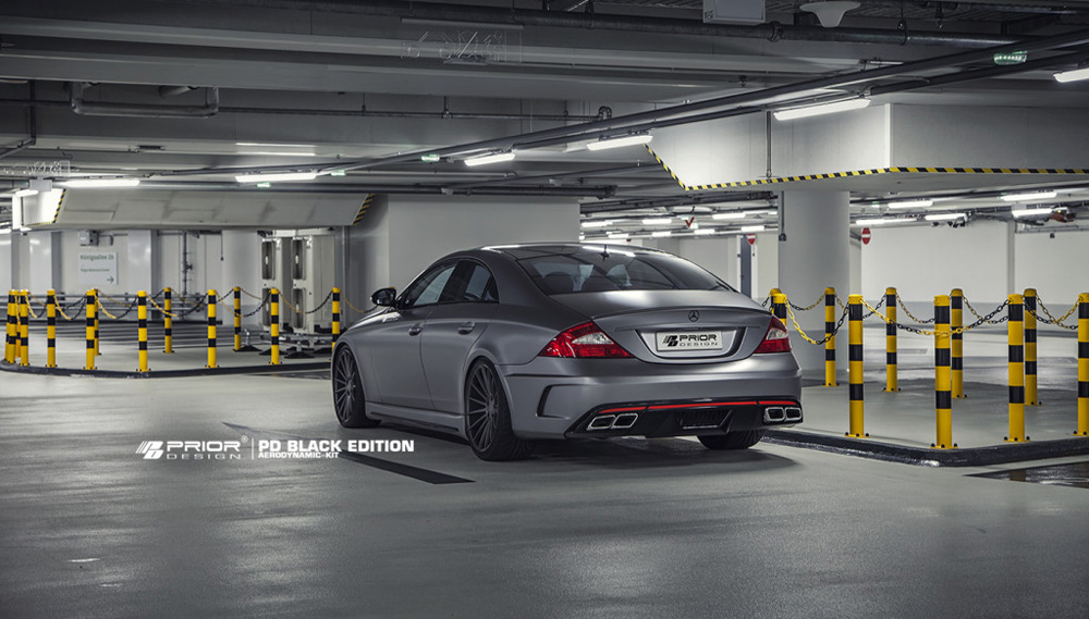 Prior Design 4260609892307 PD Black Edition Rear Bumper Mercedes-Benz CLS-Class W219 04-10