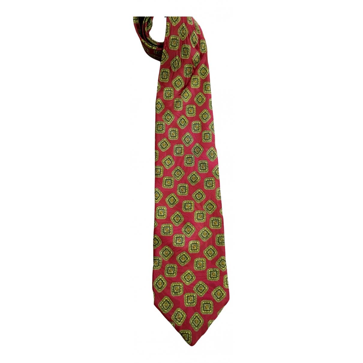 - Cravates   pour homme en soie - bordeaux