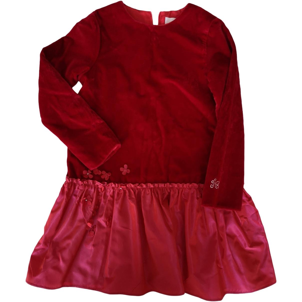 Tartine Et Chocolat - Robe    pour enfant en velours - bordeaux