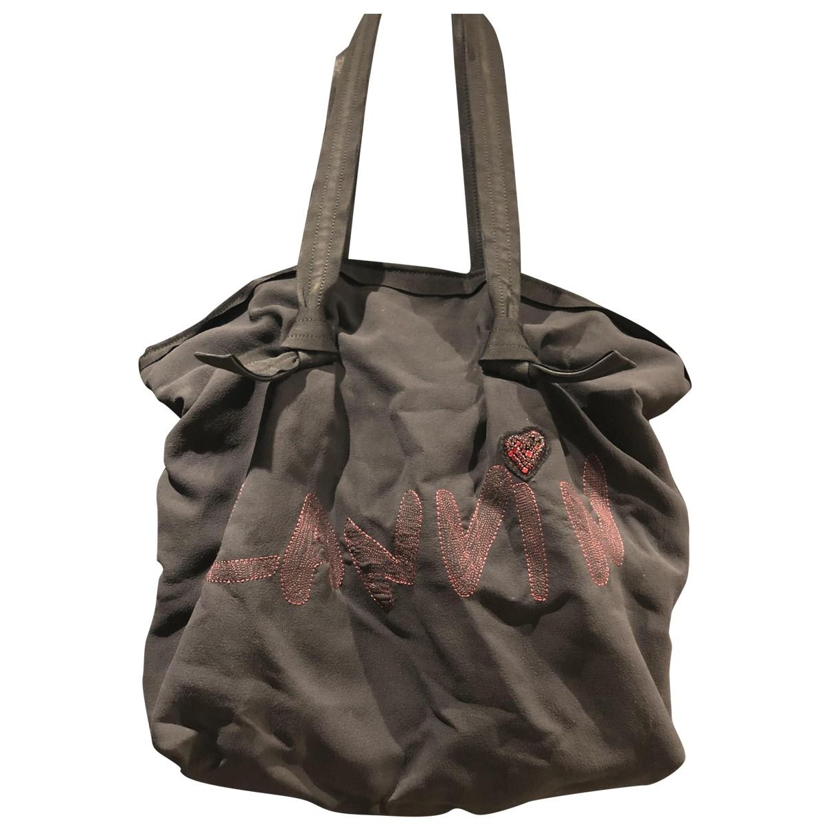 Lanvin \N Handtasche in  Schwarz Synthetik