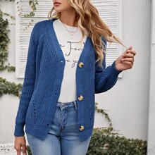 Button Front Raglan Sleeve Cardigan