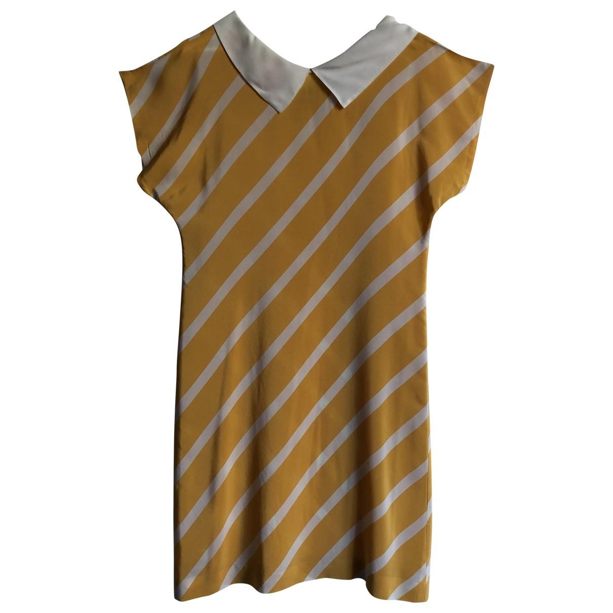 Non Signé / Unsigned \N Yellow Silk dress for Women M International