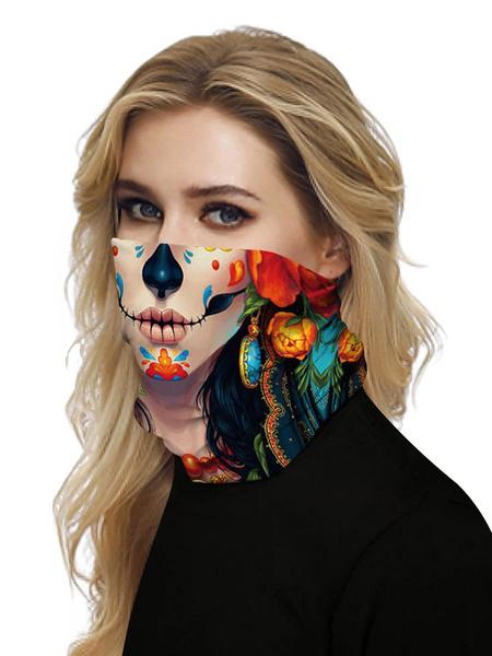 Milanoo Face Cover Windproof Scarf Sunscreen Sugar Skull Breathable Bandana