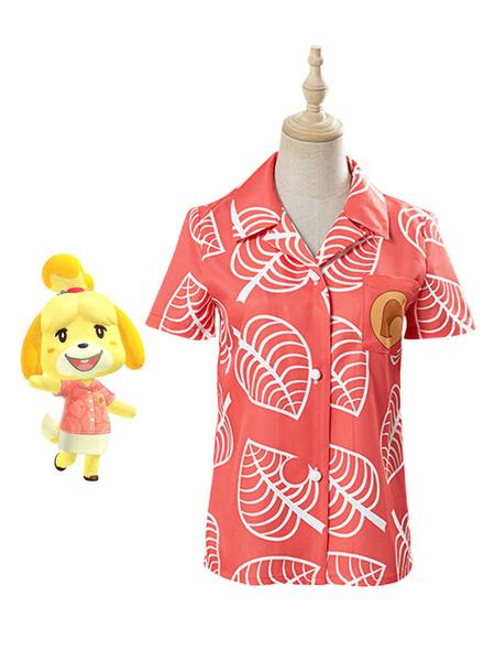Milanoo Animal Crossing New Horizons Isabelle Cosplay Costume