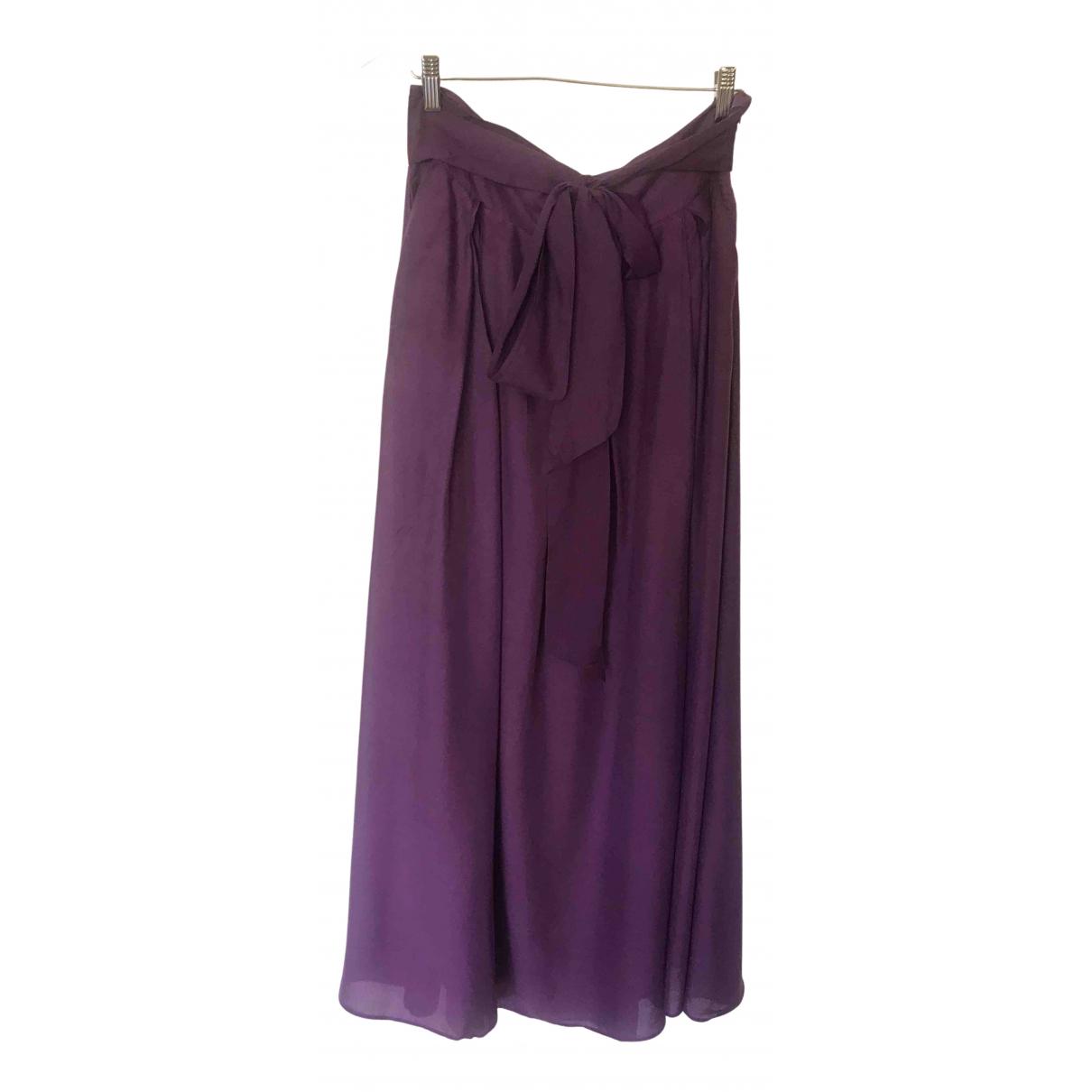 Le Bon Marche - Jupe   pour femme en coton - violet