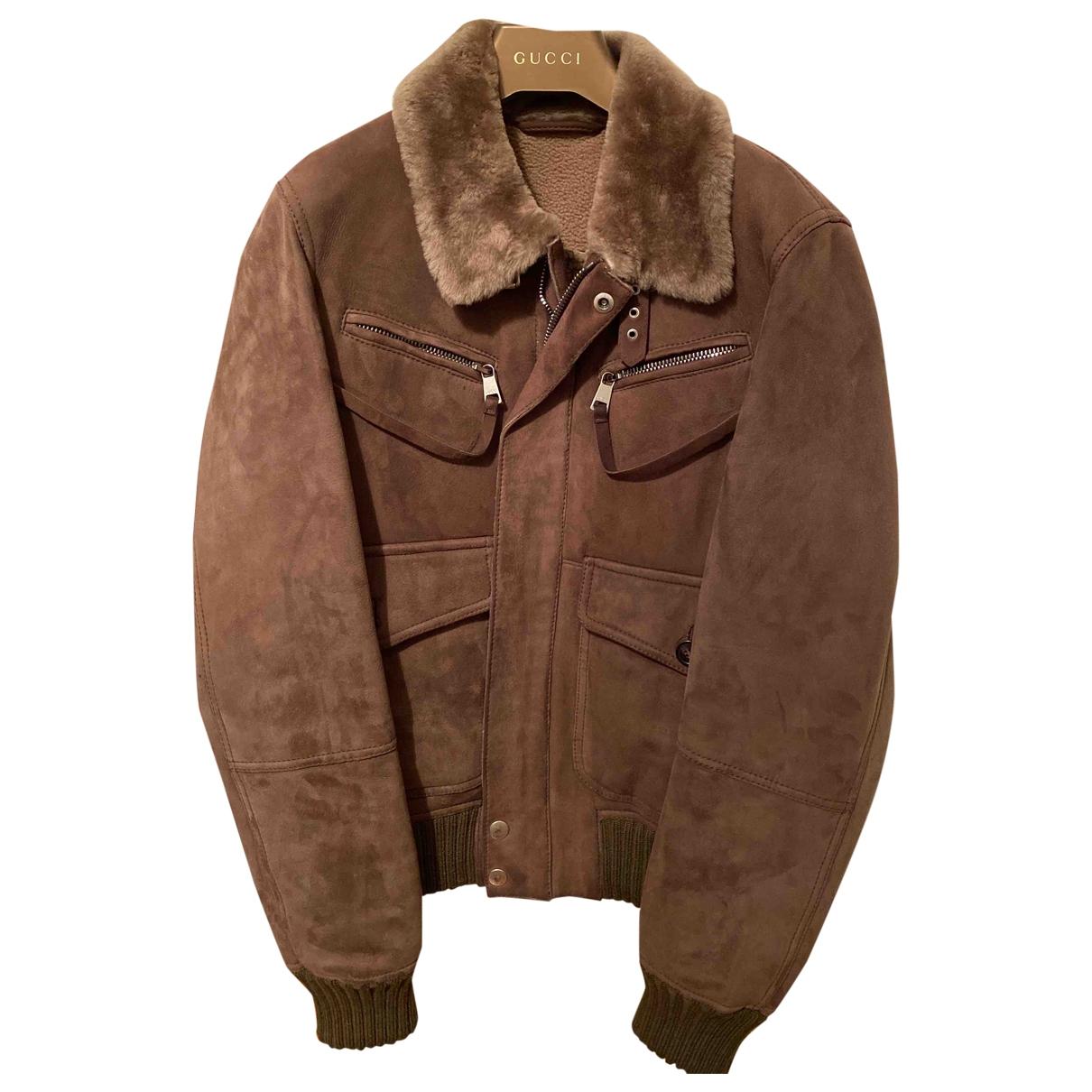 Gucci - Vestes.Blousons   pour homme en mouton - beige
