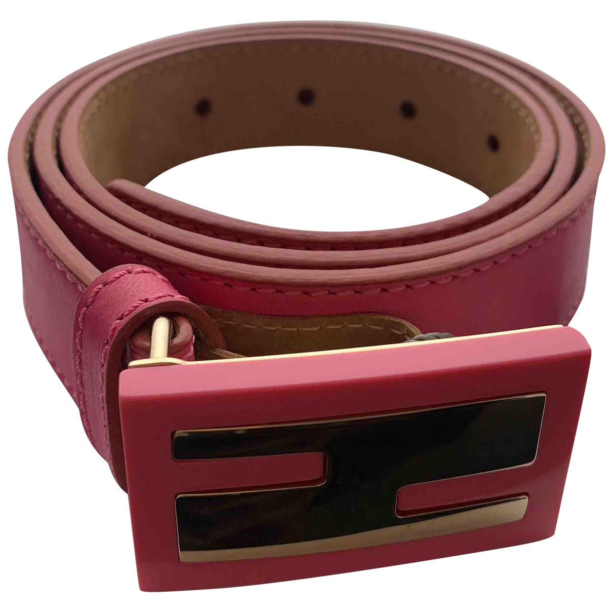 Fendi \N Pink Leather belt for Women 85 cm