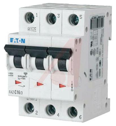 Eaton xEffect 3 A MCB Mini Circuit Breaker, 3P Curve D